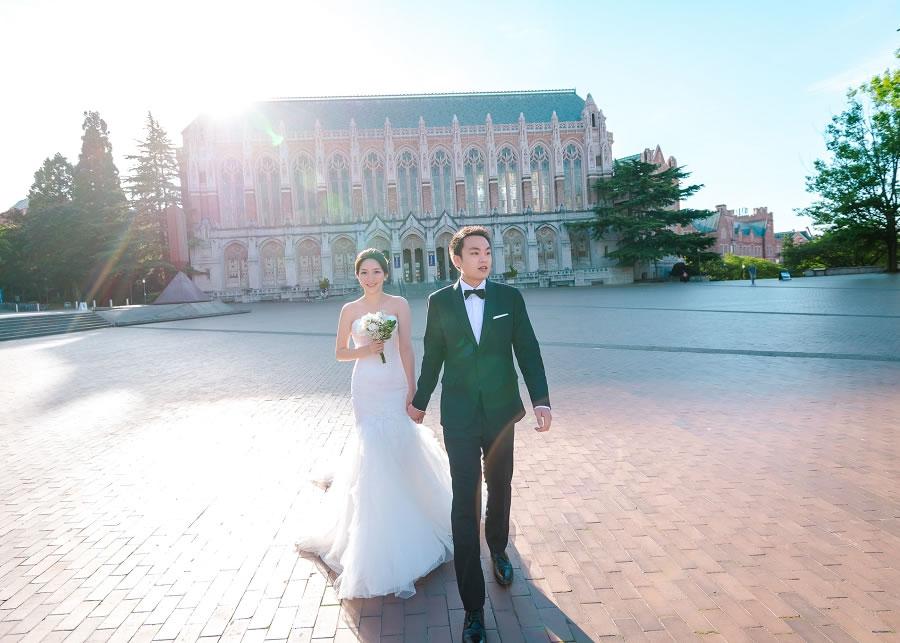 西雅圖婚紗, 華盛頓大學, 海外婚紗, 自助婚紗, 自主婚紗