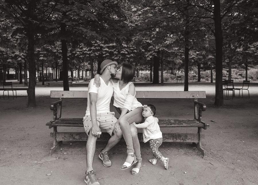 法國 巴黎 親子攝影   April & Josue, 杜樂麗花園 - 婚攝 Roger Wu