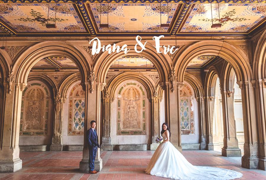 紐約婚紗 | Diana & Eric, 布魯克林大橋, 中央公園 - Roger Wu Studio
