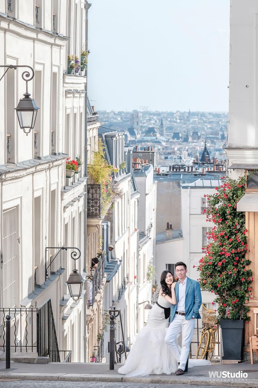 蒙馬特街角, 巴黎 自助婚紗 | Anny & Andy - 輕婚紗, 旅行婚紗, 海外婚紗, 法國自助婚紗, RogerWu 自助婚紗攝影, 日常婚紗